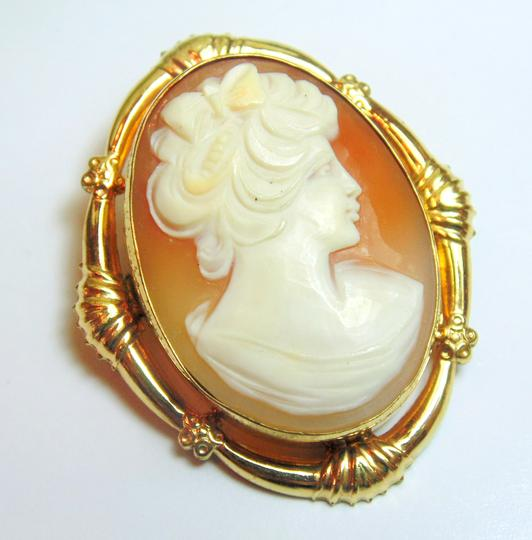 Other Victorian Shell Cameo 12k Gold Filled Pin / Pendant