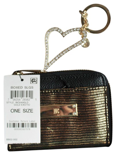 INC International Concepts Wristlet in Black/Exotic Gold Image 0