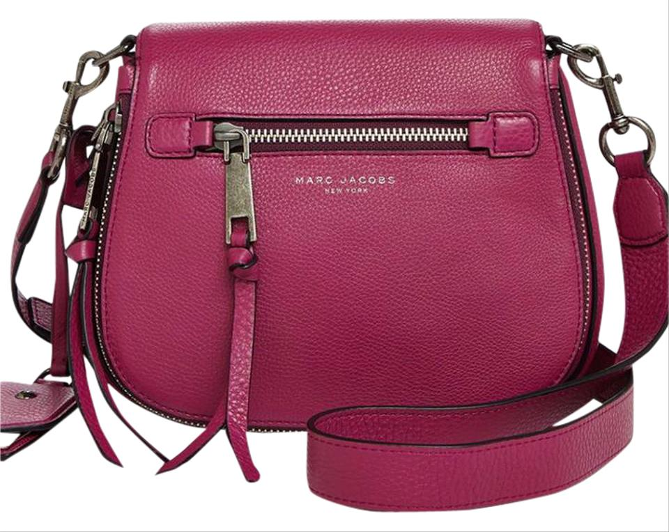 702cd1786bff2 Marc Jacobs Recruit Small Nomad Saddle Wild Berry Leather Cross Body ...