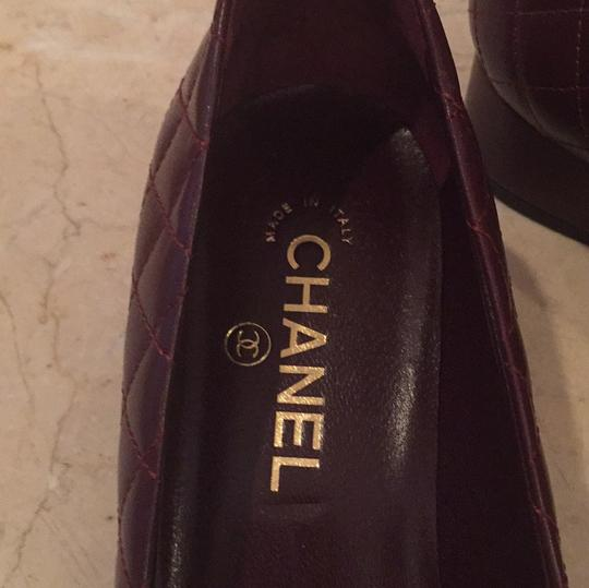 Chanel Brown Leather Pumps Image 6