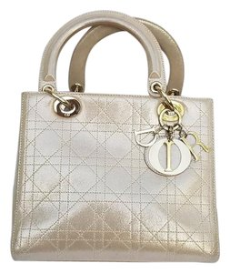 Dior Lady Medium Tote in Metalic gold