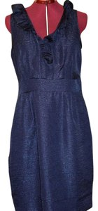 Danny & Nicole short dress Blue Sleeveless Ruffle Cotton Sheath on Tradesy