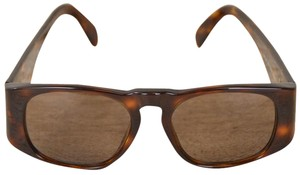 Chanel Tortoise Shell Brown Sunglasses With Gold CC Logo