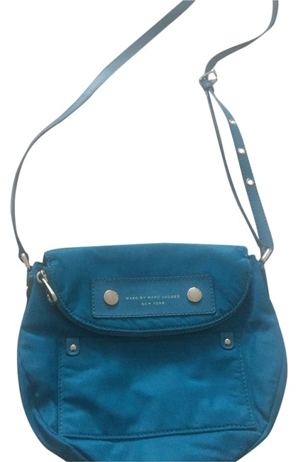 Item - Messenger Blue Nylon Cross Body Bag