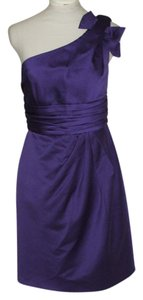 David's Bridal One Shoulder Satin Party Prom Dress