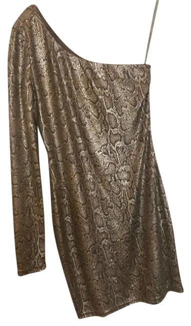 Preload https://img-static.tradesy.com/item/21073207/ark-and-co-gold-python-mini-short-night-out-dress-size-4-s-0-1-650-650.jpg