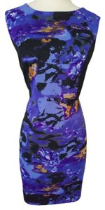 Cynthia Rowley short dress Purple, black on Tradesy