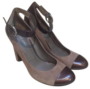 Nine West Taupe and Dark Brown Pumps
