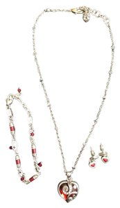 Brighton Necklace, Bracelet, and Earrings Red Heart Set