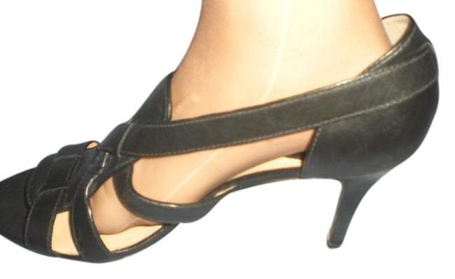 Item - Black Heels Strappy Open Toe Sandal Heels B Wedges Size US 11