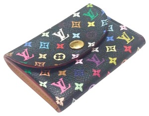Louis Vuitton Multicolore Monogram Noir Card Holder w/ Natural Interior