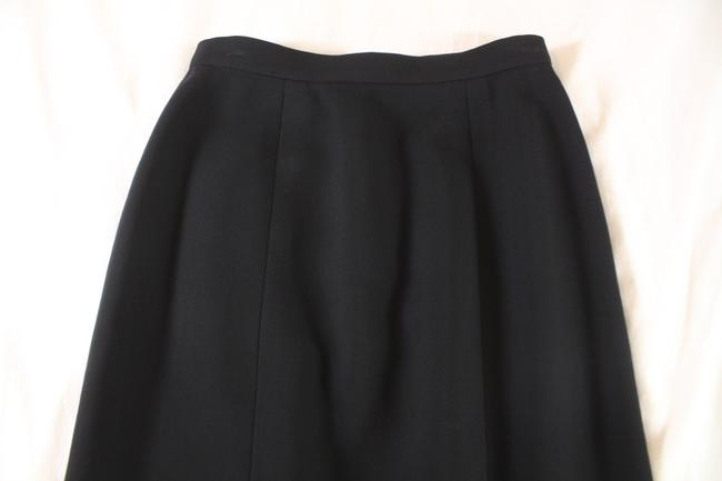 Chanel Textured Wool Pencil Skirt Black Image 1