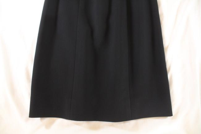 Chanel Textured Wool Pencil Skirt Black Image 2