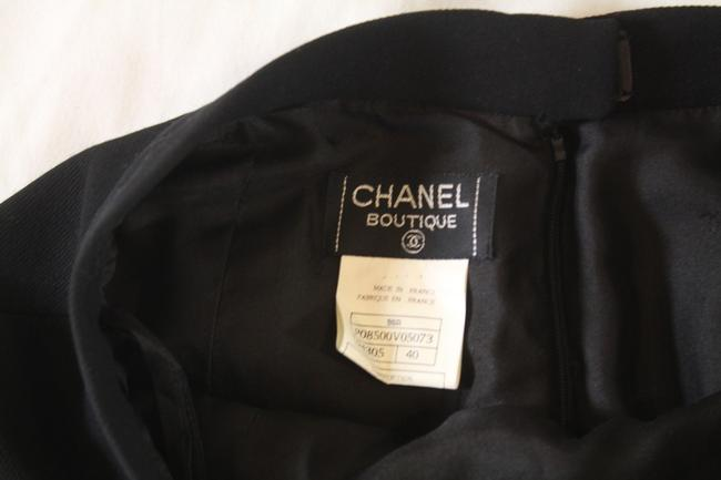 Chanel Textured Wool Pencil Skirt Black Image 3