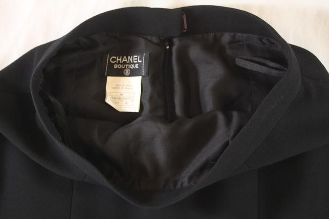 Chanel Textured Wool Pencil Skirt Black Image 4