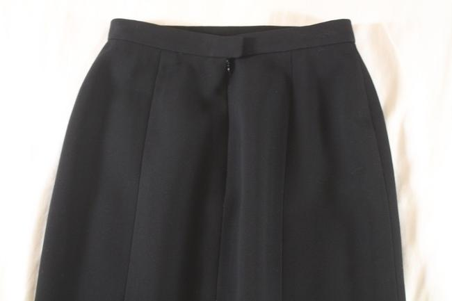 Chanel Textured Wool Pencil Skirt Black Image 5