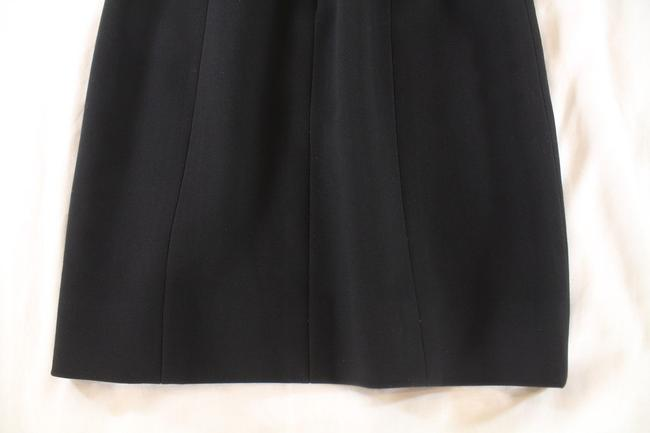 Chanel Textured Wool Pencil Skirt Black Image 6