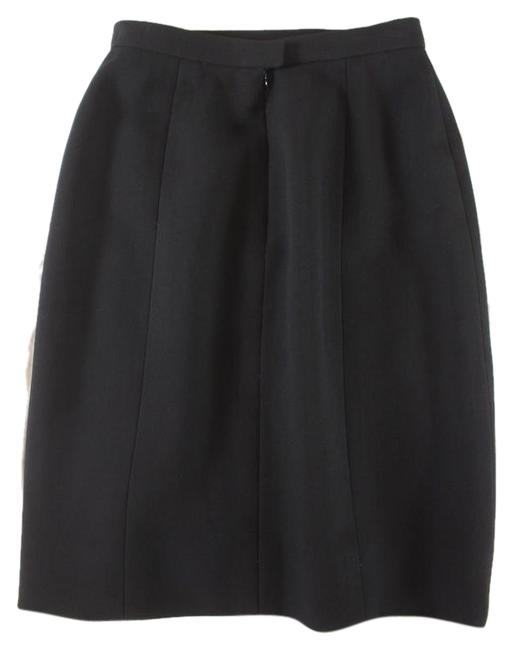 Chanel Textured Wool Pencil Skirt Black Image 7