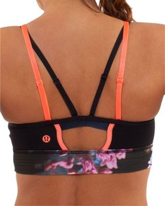 Lululemon Flip Your Dog Bra Black / Spring Has Sprung Multi