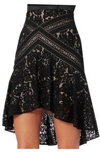 Lover Lace Ruffled Lace Intermix Skirt Black