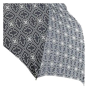 Tory Burch Blue and white Tory Burch umbrella with logo print