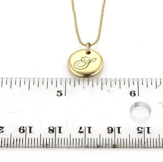Tiffany & Co. Notes Collection 18k Yellow Gold Letter