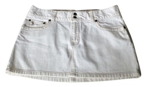 Abercrombie & Fitch Skirt White Denim