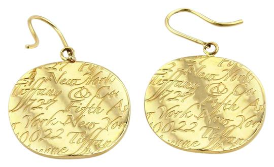 Preload https://img-static.tradesy.com/item/21073791/tiffany-and-co-yellow-gold-notes-round-concave-drop-dangle-earrings-0-1-540-540.jpg