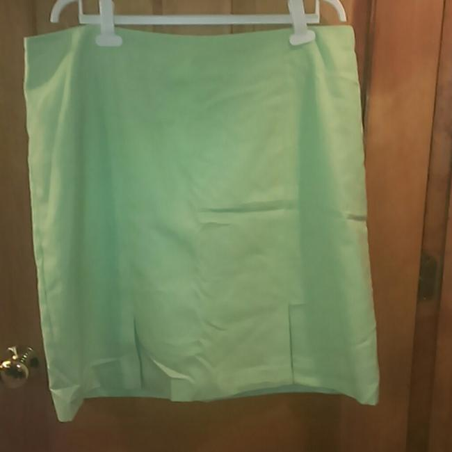 dressbarn Light Skirt Green Image 1