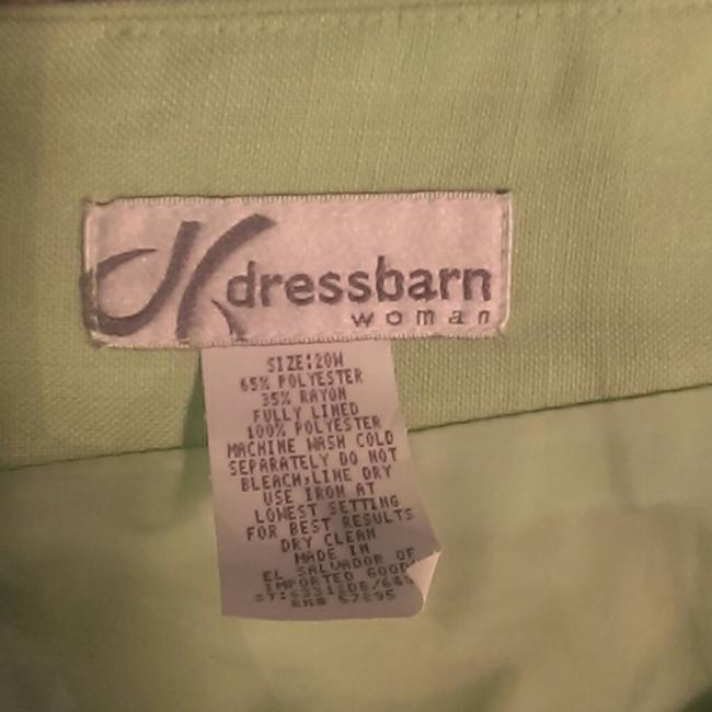 dressbarn Light Skirt Green Image 2