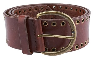 Pelle Melle Pelle Melle Brown Leather Belt, Size M