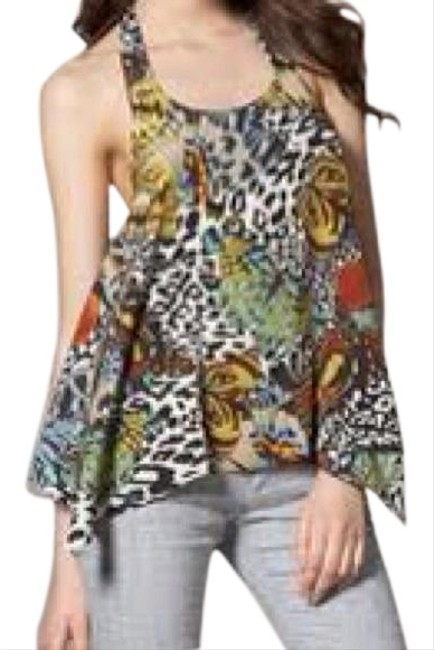 Item - Multicolor Butterfly Halter Top Size 0 (XS)