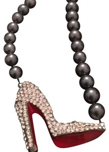 Other Red bottom shoe necklace