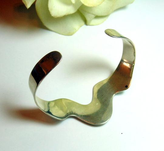 Taxco Vintage Taxco Sterling Silver Cuff Bracelet Mexico TD-33