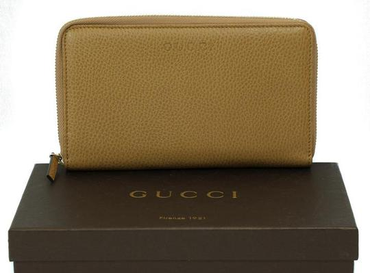 Gucci GUCCI 321117 Unisex Leather GG Guccissima Zip Around Wallet Clutch Image 4