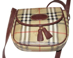 Burberry Early Excellent Vintage Perfect For Everyday In Haymarket Cross Body Bag