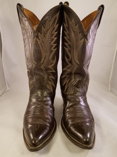 Acme Western Cowboy Man Brown Boots Image 1
