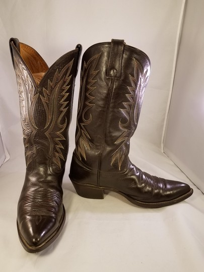 Acme Western Cowboy Man Brown Boots Image 2