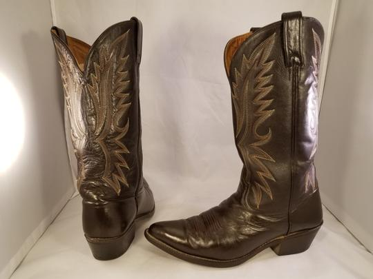 Acme Western Cowboy Man Brown Boots Image 3