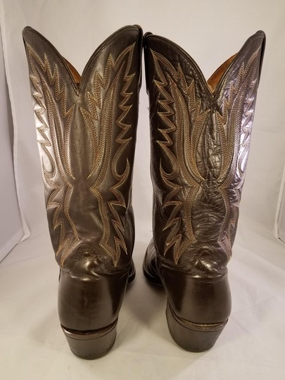 Acme Western Cowboy Man Brown Boots Image 4