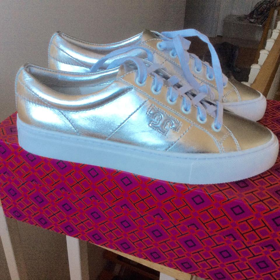 db81dfaf53020a Tory Burch Silver Chace Lace-up Sneakers Sneakers Size US 6 Regular ...
