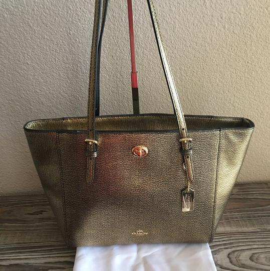Coach Tote in Metallic Gold Image 1