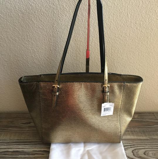 Coach Tote in Metallic Gold Image 2
