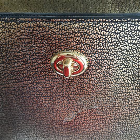 Coach Tote in Metallic Gold Image 3