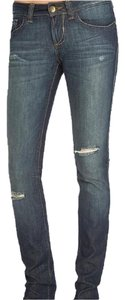 DL1961 Skinny Sally Slim Distressed Straight Leg Jeans-Distressed