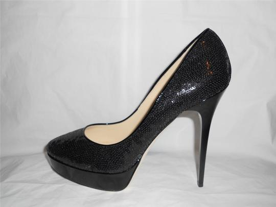 Jimmy Choo Platform Heels Cosmic Sequin Black Pumps Image 2