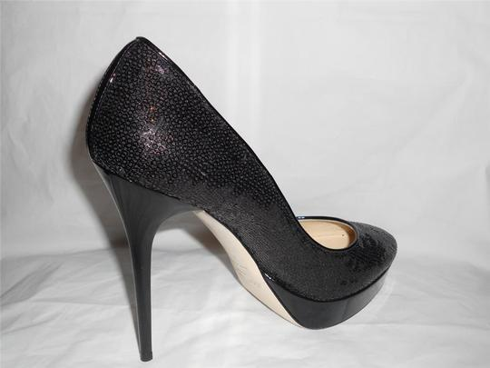 Jimmy Choo Platform Heels Cosmic Sequin Black Pumps Image 3