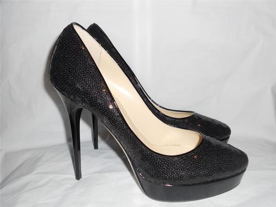 Jimmy Choo Platform Heels Cosmic Sequin Black Pumps Image 6
