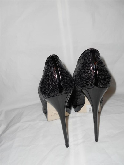 Jimmy Choo Platform Heels Cosmic Sequin Black Pumps Image 7