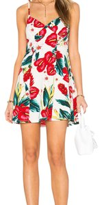 Show Me Your Mumu short dress floral and white on Tradesy